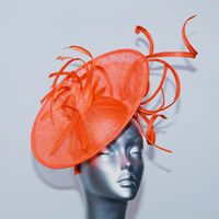 "Orange ""wiggle"" Mother of the Bride hatinator 16364/SD245/320"